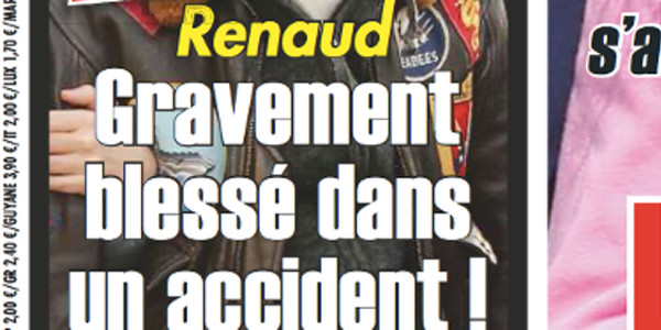 Renaud, gravement blessé dans un accident  (photo)